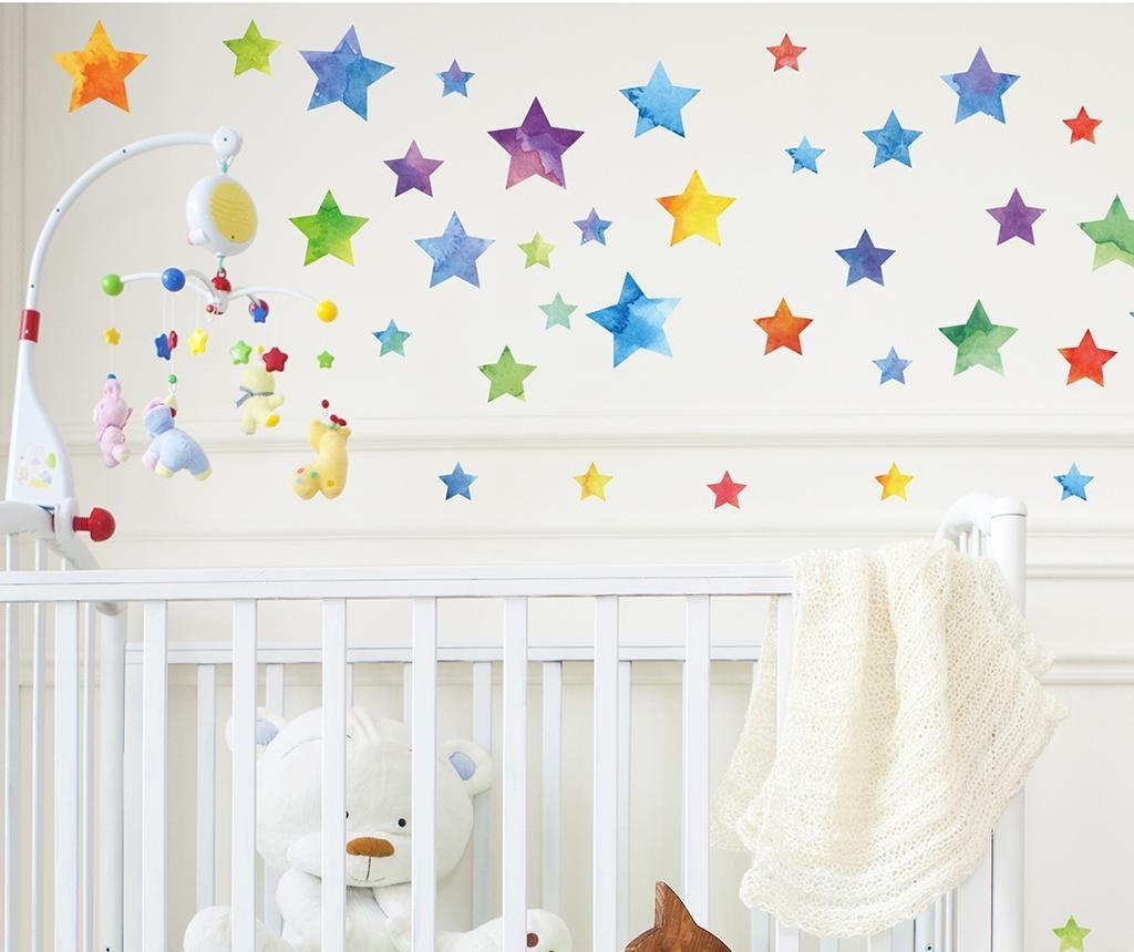 Colorful Watercolor Stars 67 db Matrica
