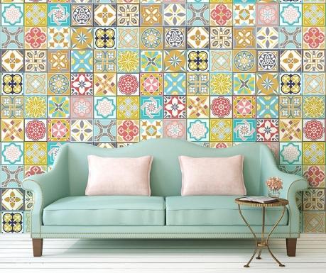 Malia Colorful Home Tiles 24 db Matrica