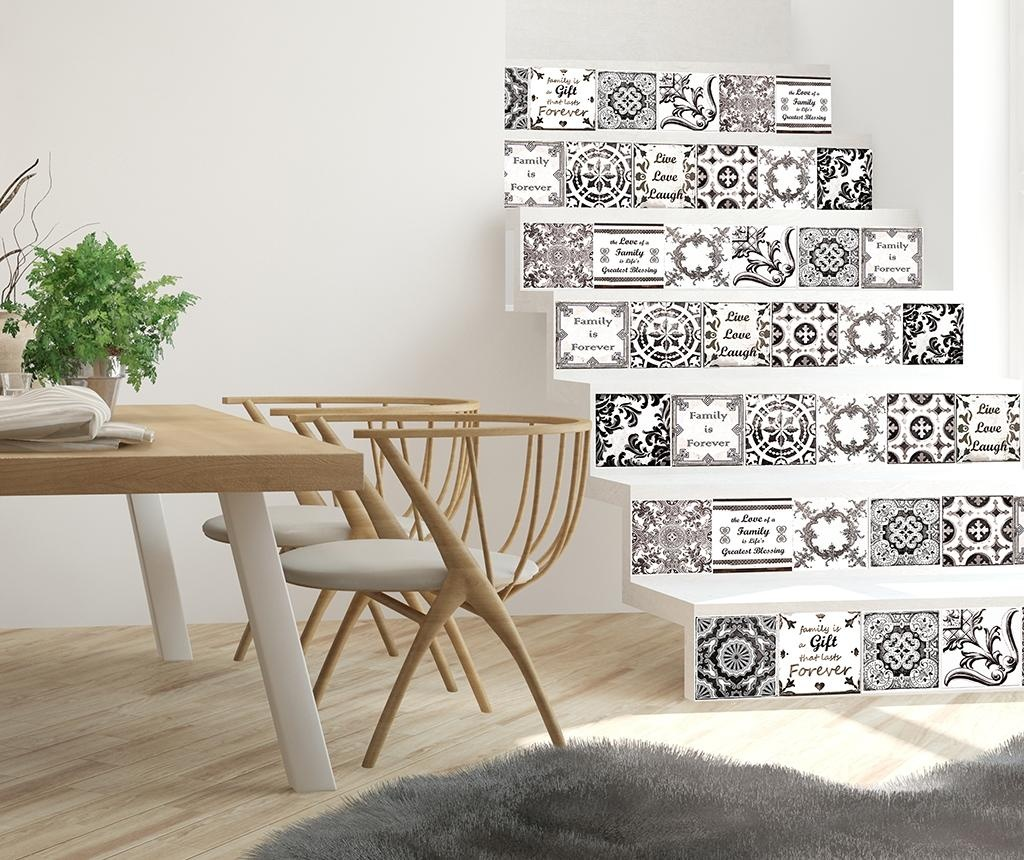 Set 24 stickere Tile English Quote Retro