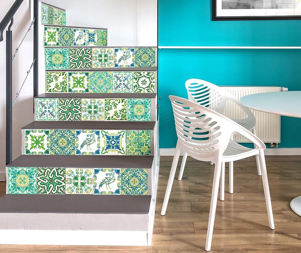 Set 24 naljepnica Tile Turkish Green
