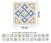 Tiles Lyon 24 db Matrica