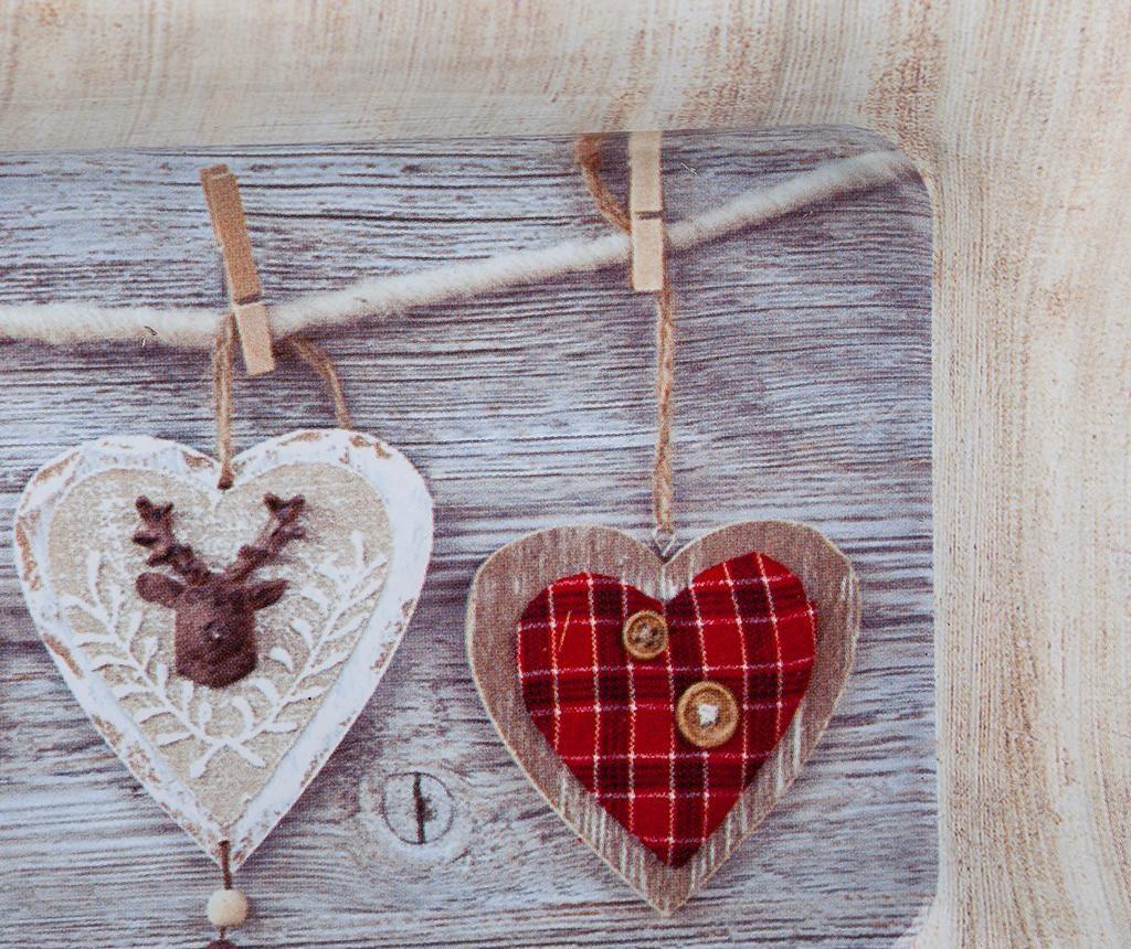 Ukrasni pladanj Hearts red