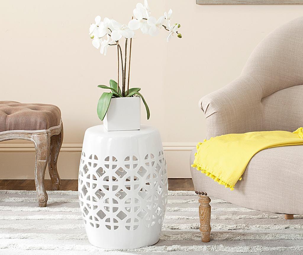 Taburet decorativ Ravello White