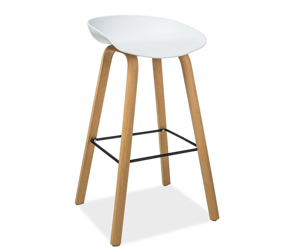 Barski stol Gusti White