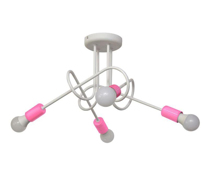 Závěsná lampa Oxford Oda Four White Pink