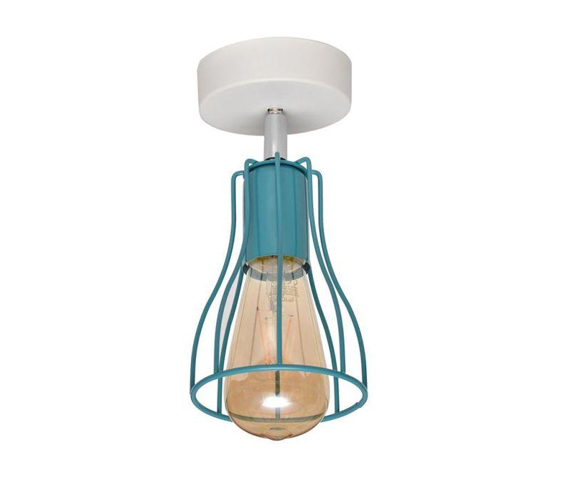 Tube One White Turquoise Fali lámpa