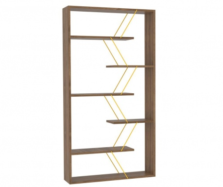 Biblioteczka Tars Walnut Yellow