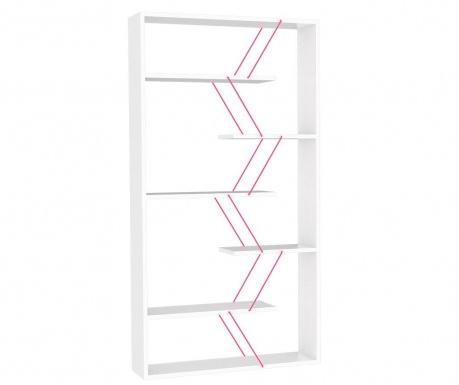 Regal za knjige Tars White Pink