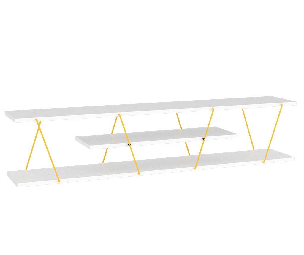 Tars White Yellow TV Komód