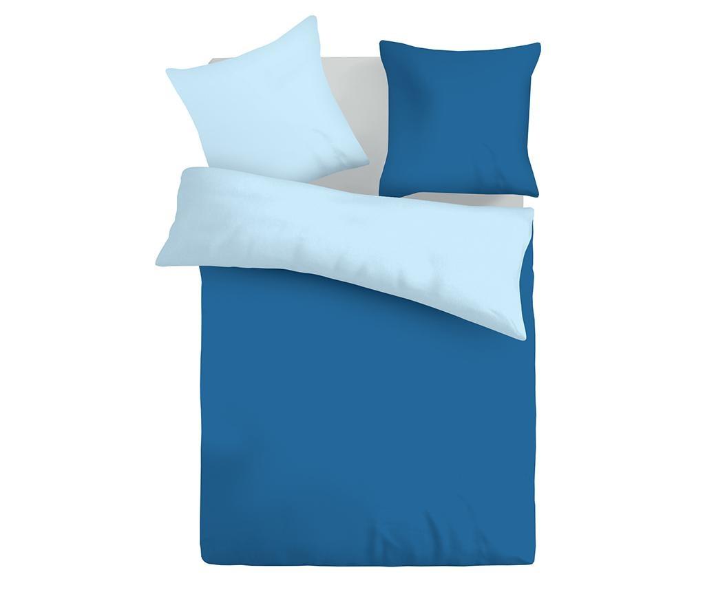 Lenjerie de pat Single Ranforce Duo Blue & Baby Blue