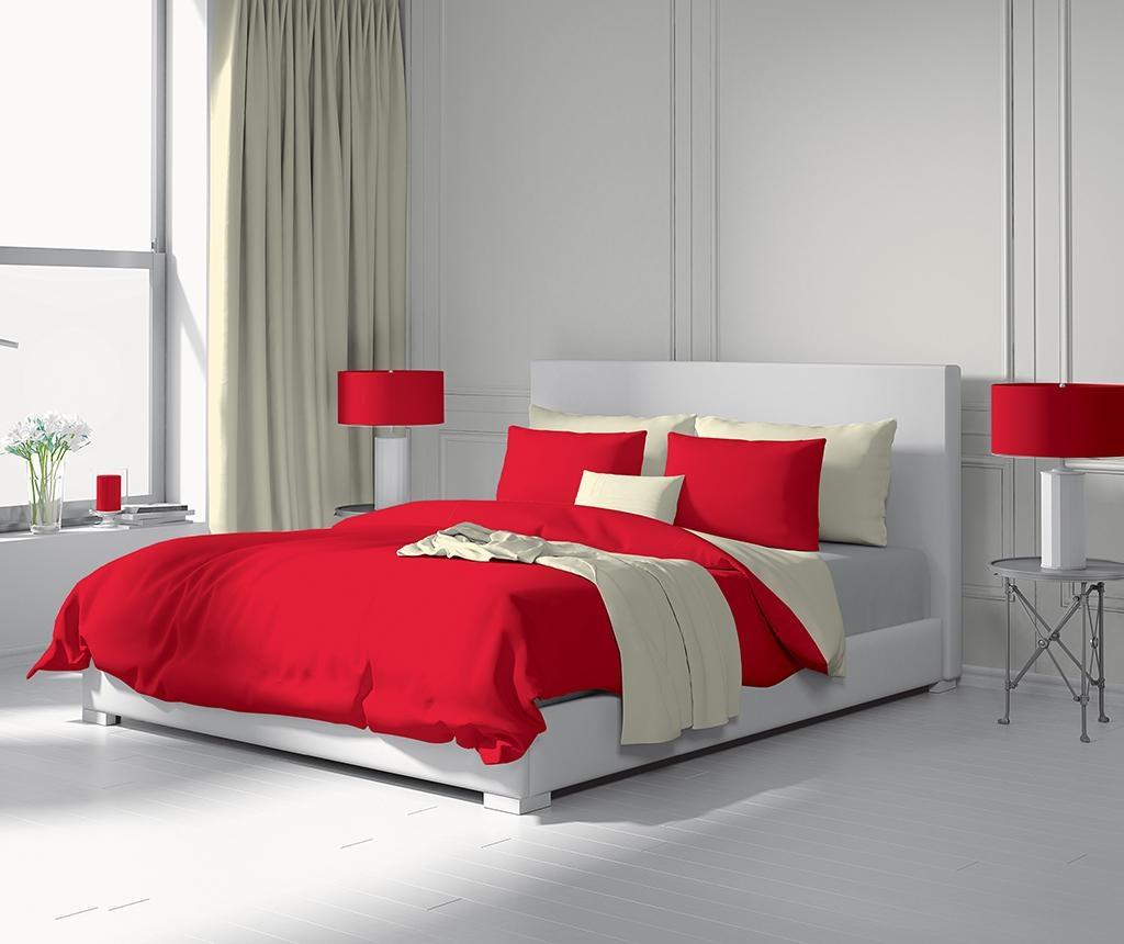 Duo Red & Ecru Kétszemélyes Szatén ágynemű