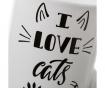 Set 4 skodelic I Love Cats 350 ml