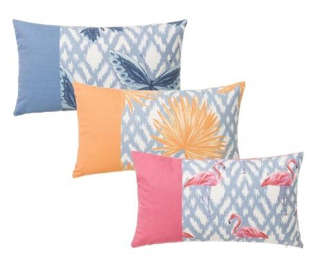 Zestaw 3 poduszek dekoracyjnych Summer Pastel 30x50 cm