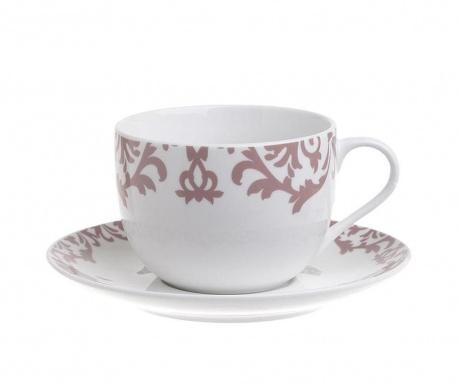 Set 6 skodelic za čaj in 6 krožničkov India