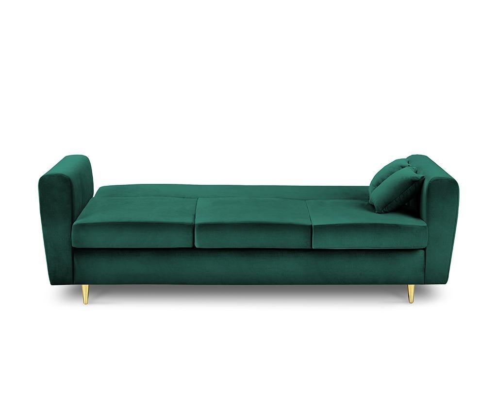 Canapea extensibila 3 locuri Remy Bottle Green