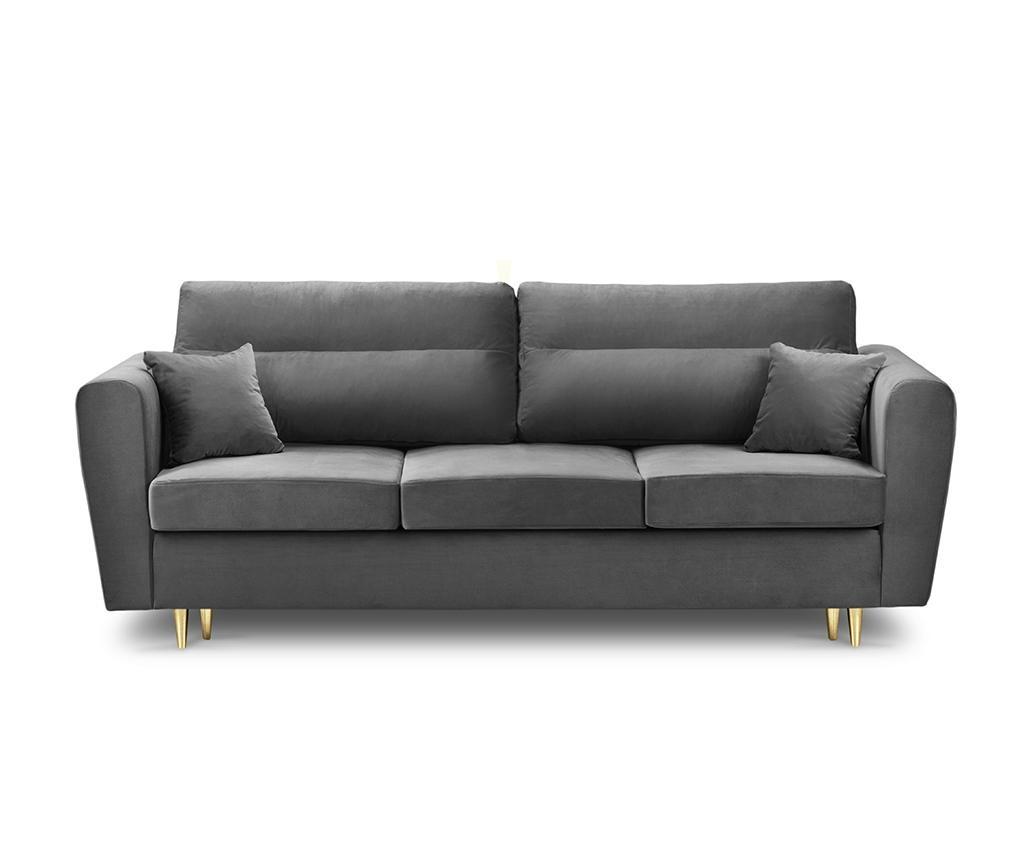 Canapea extensibila 3 locuri Remy Dark Grey