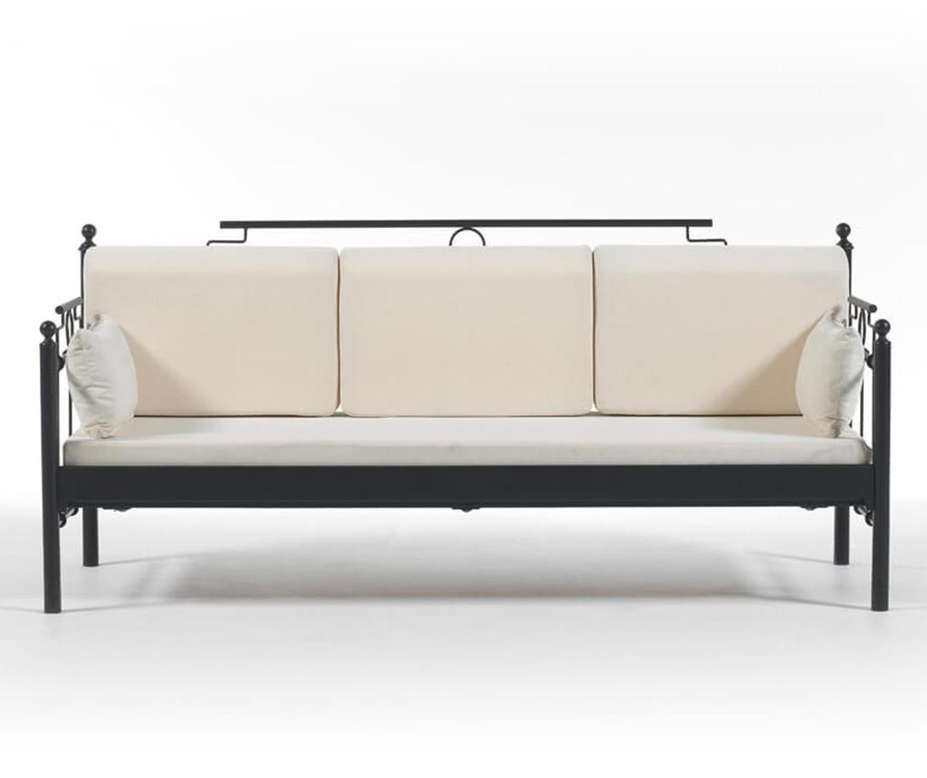 Canapea 3 locuri pentru exterior Hatkus Black and Beige