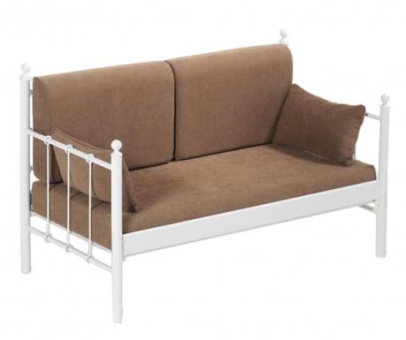 Kauč trosjed za vanjski prostor Lalas White and Brown
