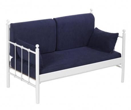 Canapea 2 locuri pentru exterior Lalas White and Dark Blue