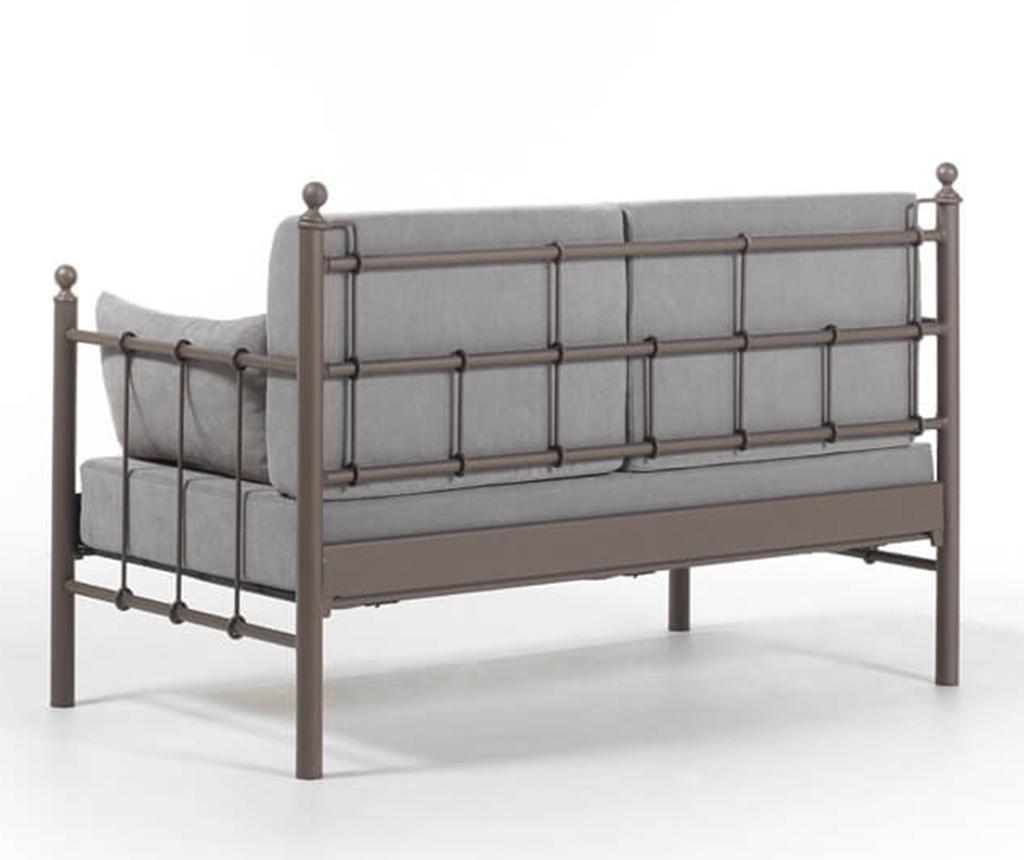 Canapea 2 locuri pentru exterior Lalas Brown and Grey