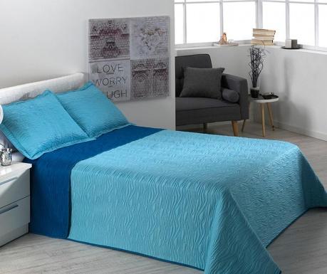 Zestaw pikowany na łóżko Single Alma Waves Blue