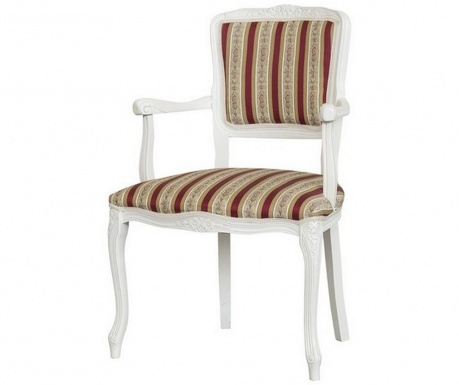 Stol Diana Baroque Stripes Red