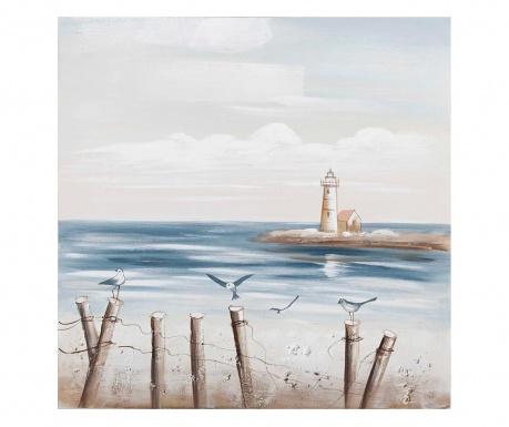 Coastal View Festmény 80x80 cm