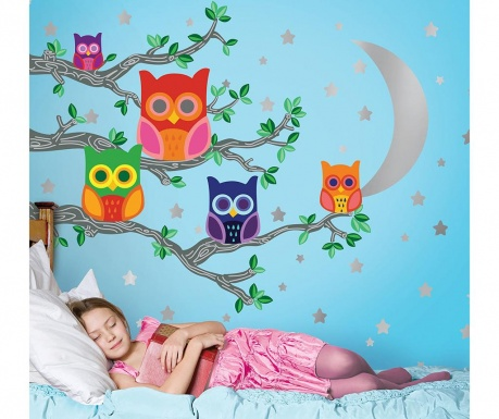 Samolepka Moon Owls