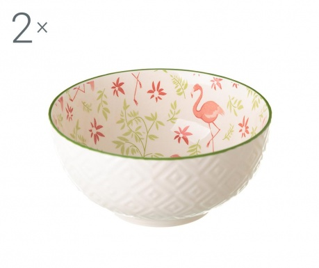 Set 2 zdjele Flamingo 600 ml
