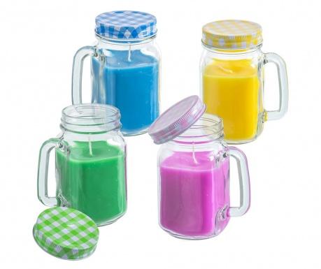 Set 4 svijeće Citronella Jar