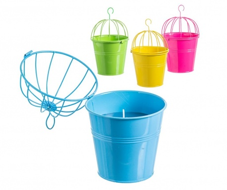 Set 4 visečih sveč Citronella Bucket Large