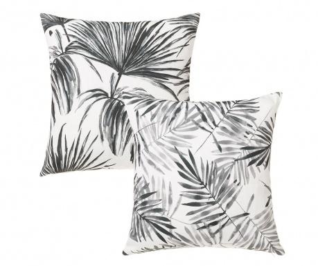 Set 2 ukrasna jastuka Trellis Black White 45x45 cm