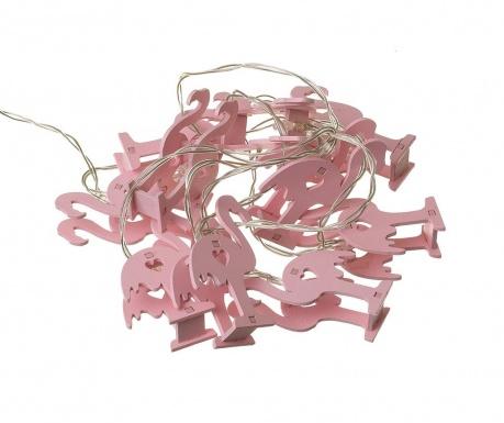 Φωτεινή γιρλάντα Flamingo Love