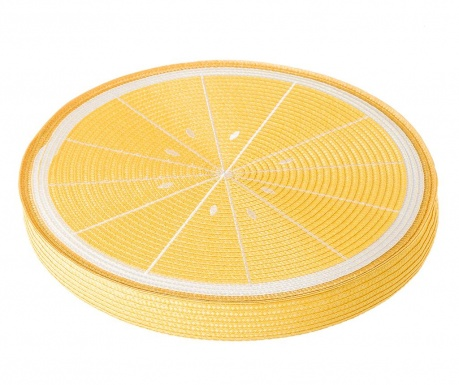 Poduszka na siedzisko Fruits Lemon Yellow