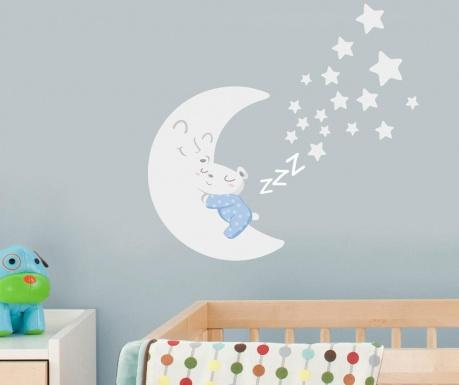Nalepka Sleepy Moon Blue