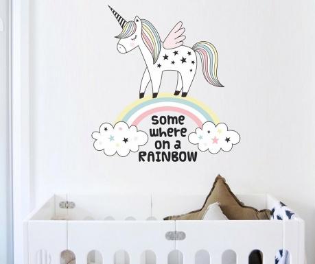 Samolepka Unicorn Rainbow