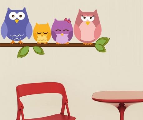 Nalepka Owl on Branch