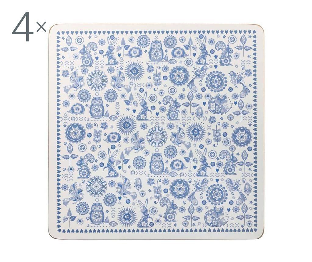 Set 4 podmetača Penzance 29x29 cm