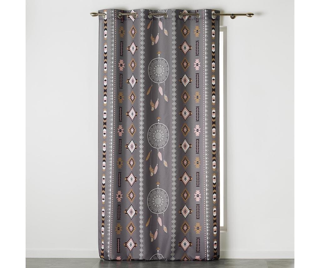 Indila Anthracite & Nature Sötétítő 140x260 cm