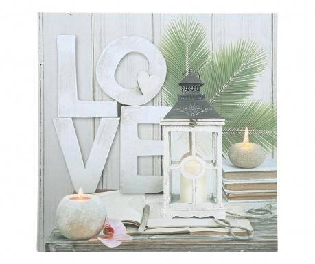 Svetlobna stenska dekoracija Love