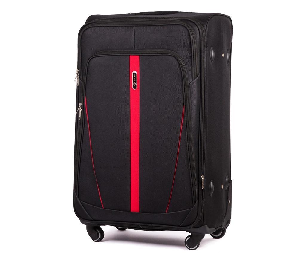 Dynamic Black Gurulós bőrönd 41 L