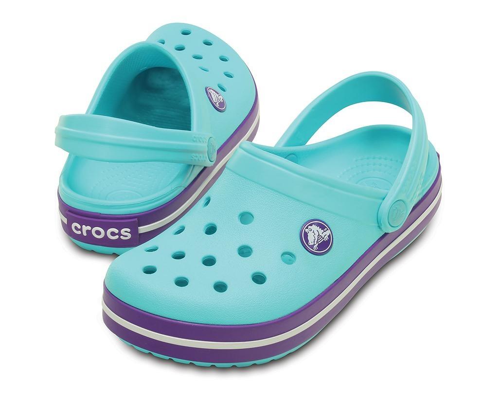 Otroške cokle Crocs Neon Purple 33-34