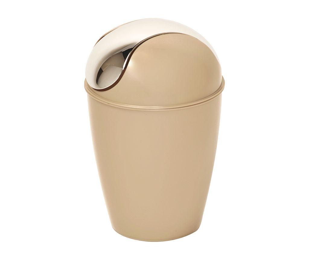 Koš za smeti s pokrovom Basic Taupe 5.6 L