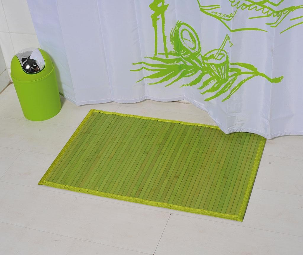 Kupaonski tepih Lines Green 50x80 cm