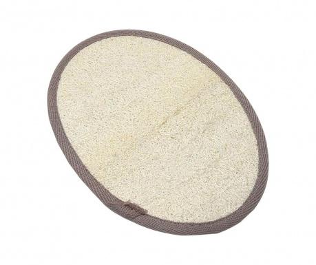 Loofah Cream & Taupe Hámlasztó fürdőkesztyű