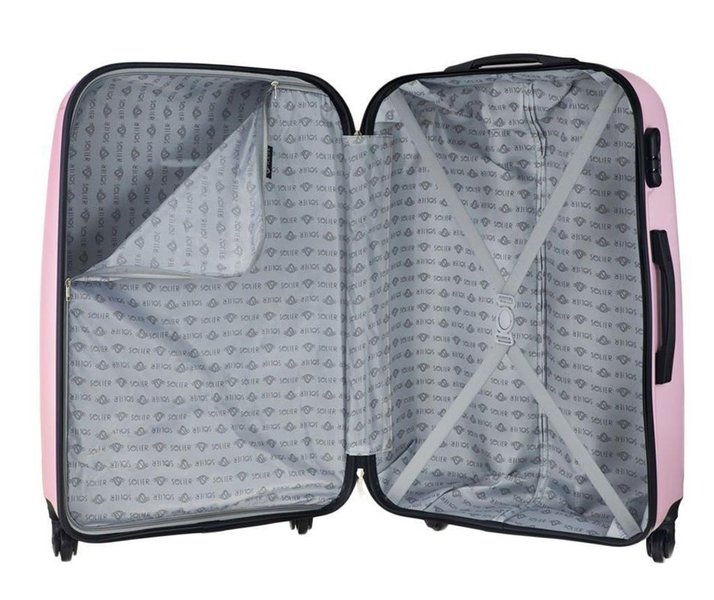 Putna torba s kotačićima Steady Pink 31 L