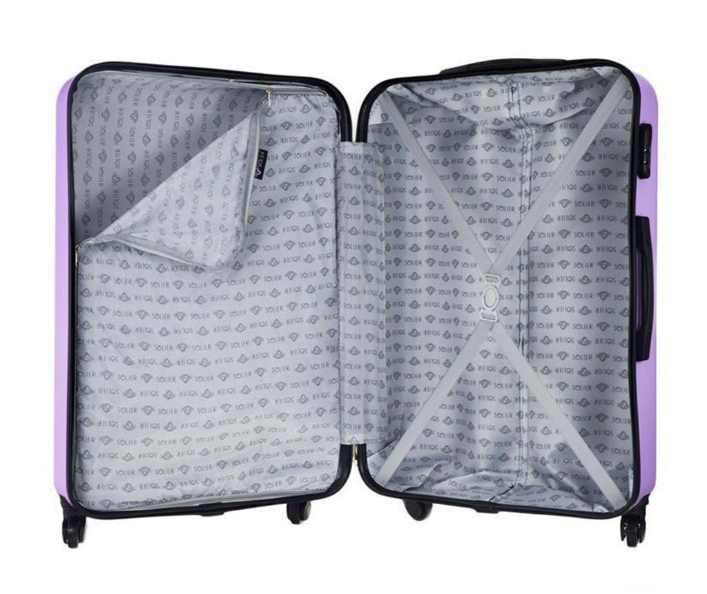 Kovček na kolesih Arrow Purple 31 L