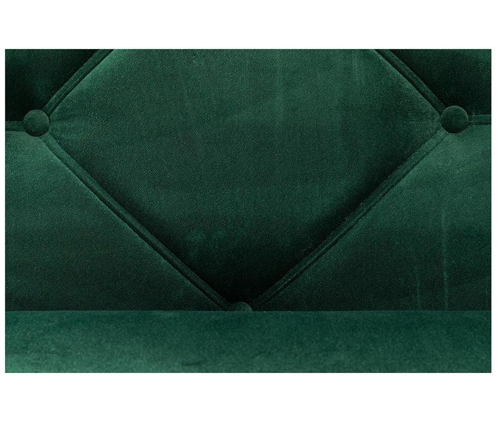 Ležaljka za dnevni boravak diYana Dark Green And Black Legs