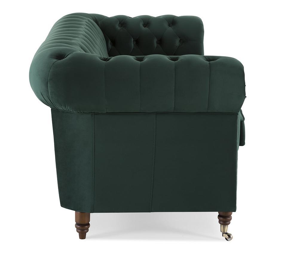 Canapea 3 locuri Chesterfield Dark Green