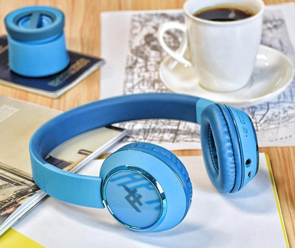 Casti wireless cu microfon iFrogz Coda Blue